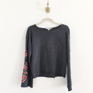 American Eagle Embroidered Floral Sweatshirt